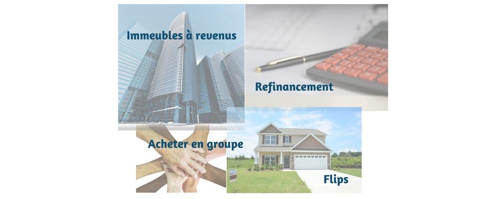 Quatre façons de vivre de l'immobilier