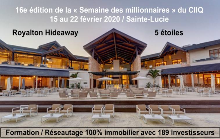 Semaine des millionnaires 2020 | Sainte-Lucie